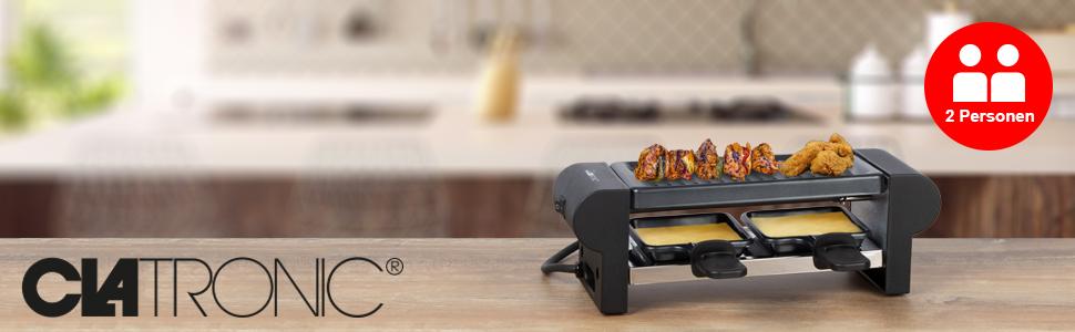 Clatronic Raclette für 2 Personen