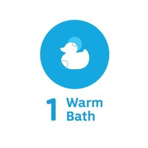 Warm Baby Bath Blue Icon
