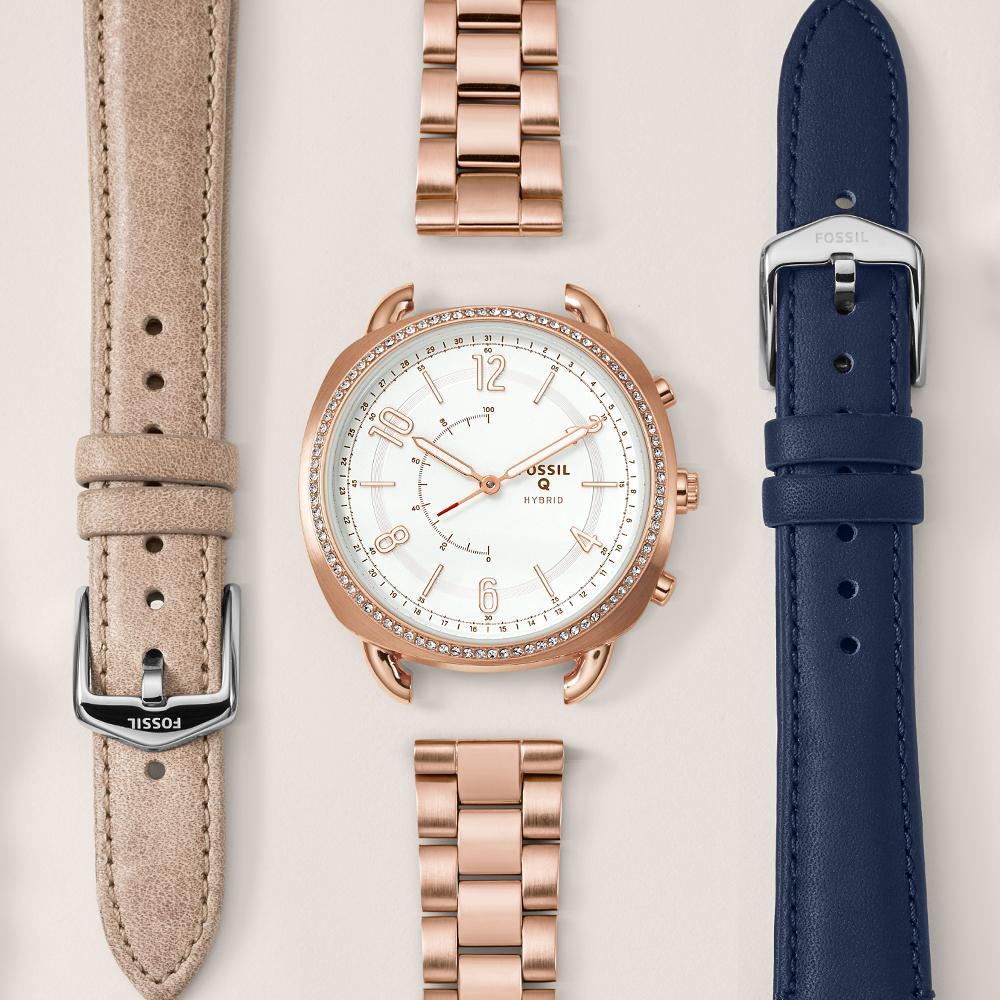 Fossil Q Modern Pursuit Silicone Hybrid Smartwatch Coinzermall Watch View Larger