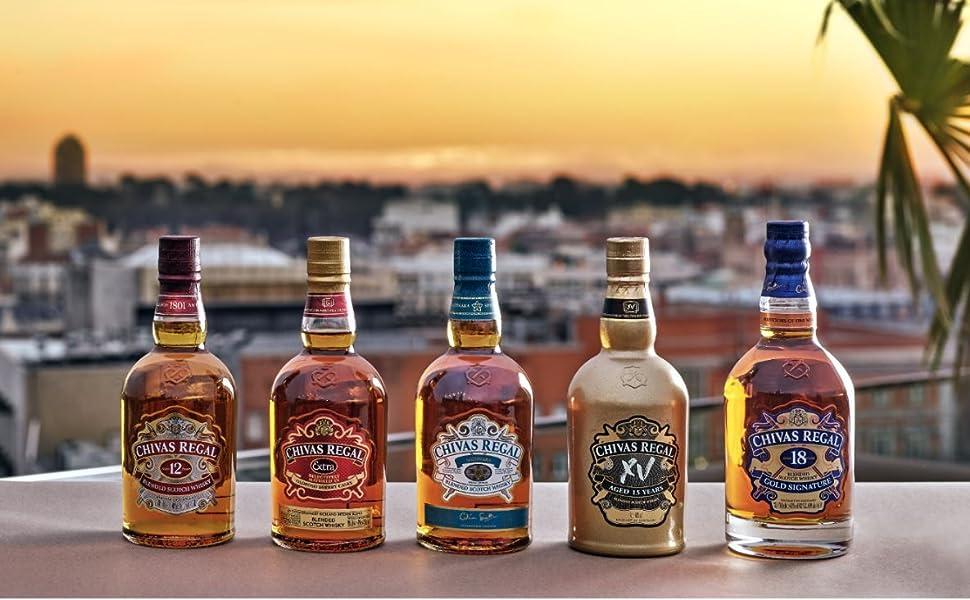 Chivas Regal 12 años Whisky Escocés de Mezcla Miniatura - 50 ml: Amazon.es: Alimentación y bebidas