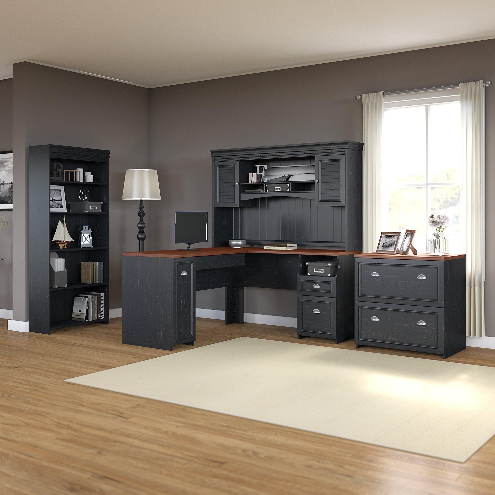 Amazon Com Bush Furniture Fairview L Shaped Desk With