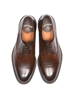 l6723 harrys, lottusse, zapatos derby, blucher, zapato de cordones hombre, zapatos marrones de piel