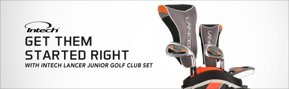 Amazon.com : Intech Lancer Junior Golf Set, (Left-Handed, Age 8 to 12, 17.5 degree Driver, 4/5