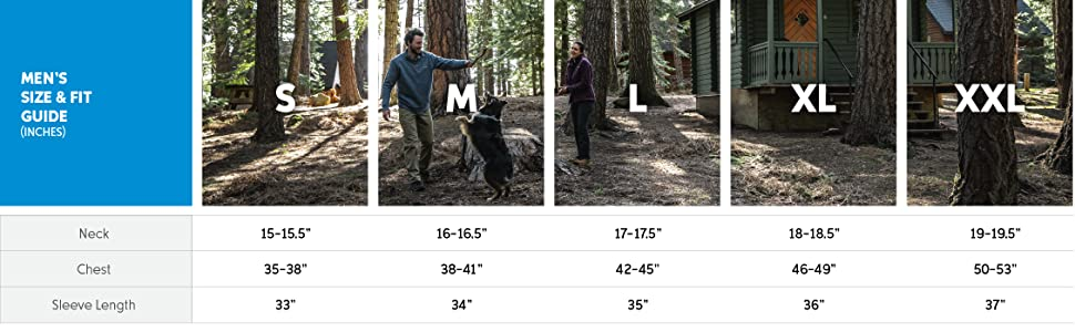 Men's pullover size and fit guide