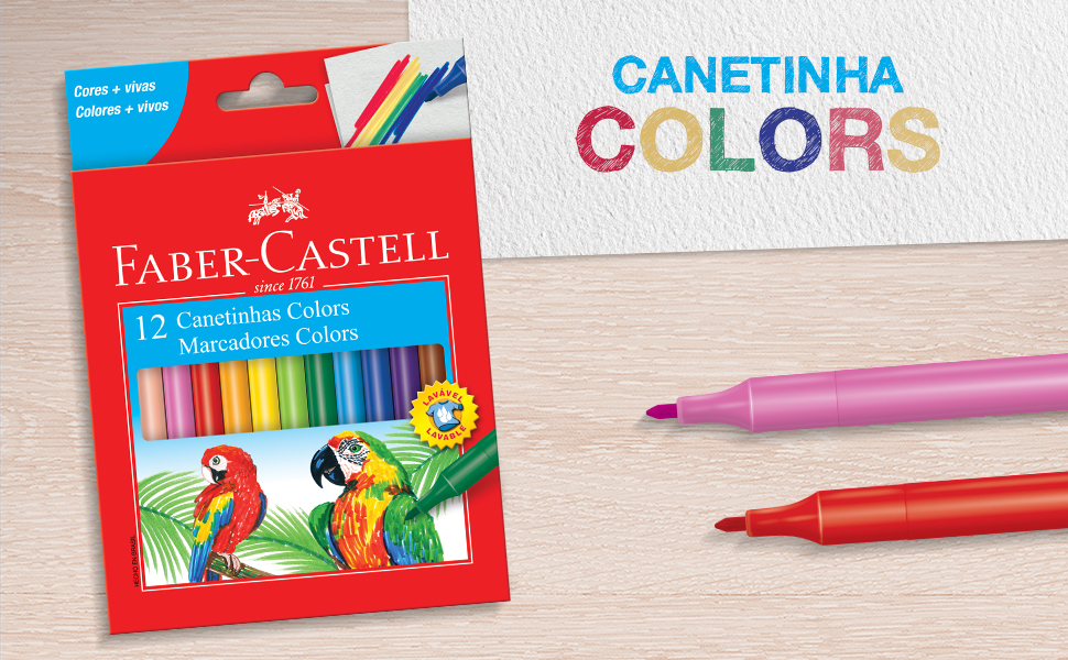 canetinha colors, canetinhas, canetinhas coloridas, pintar, desenhar, colorir, faber-castell