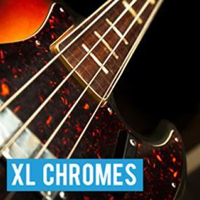 Chromes Flat Wound JAZZ ジャズ ベース 弦 ストリング げん BASS フラット ワウンド クローム セット ウォーム