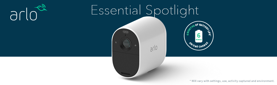 arlo Essential Spotlicht Camera 6 month battery life on one charge