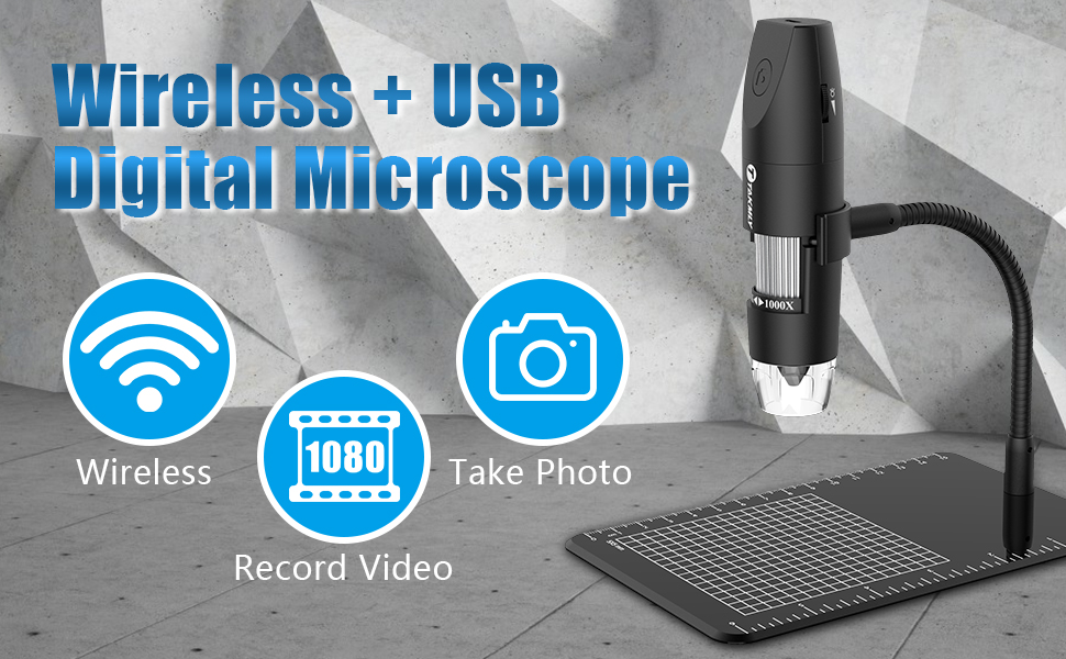 for Experiments Research Reliable Performance Flexible Operation Easy to Carry and Store Small size USB Digital Microscope WIFI Microscope