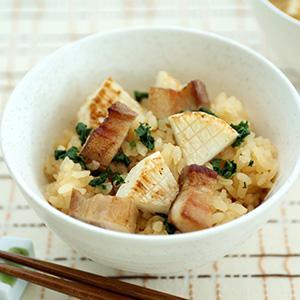 豚バラ肉と大根の味噌炊き込みご飯