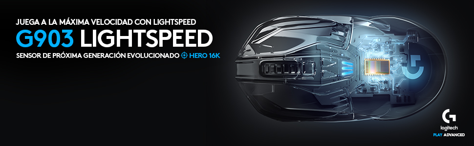 Logitech G903 Lightspeed Ratón Gaming Inalámbrico, Captor Hero ...