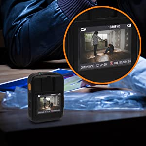 Police Security Video Body Camera - HD 2304x1296p 36MP Rechargeable Wireless Waterproof Wearable Law