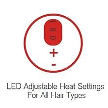 LED Adjustable Heat Settings
