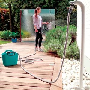 GF Garden Aquapop Manguera Extensible Metros, con Kit, para Riego de Jardines, Macetas, Balcones, Terrazas y Galerías, Gris, 30 metri: Amazon.es: Jardín