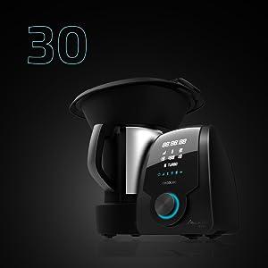 Cecotec Robot de Cocina Mambo 9590. con Jarra Habana, 30 Funciones, Báscula incorporada, Jarra de Acero INOX, Capacidad 3,3 litros, Apta para lavavajillas,: Amazon.es: Hogar