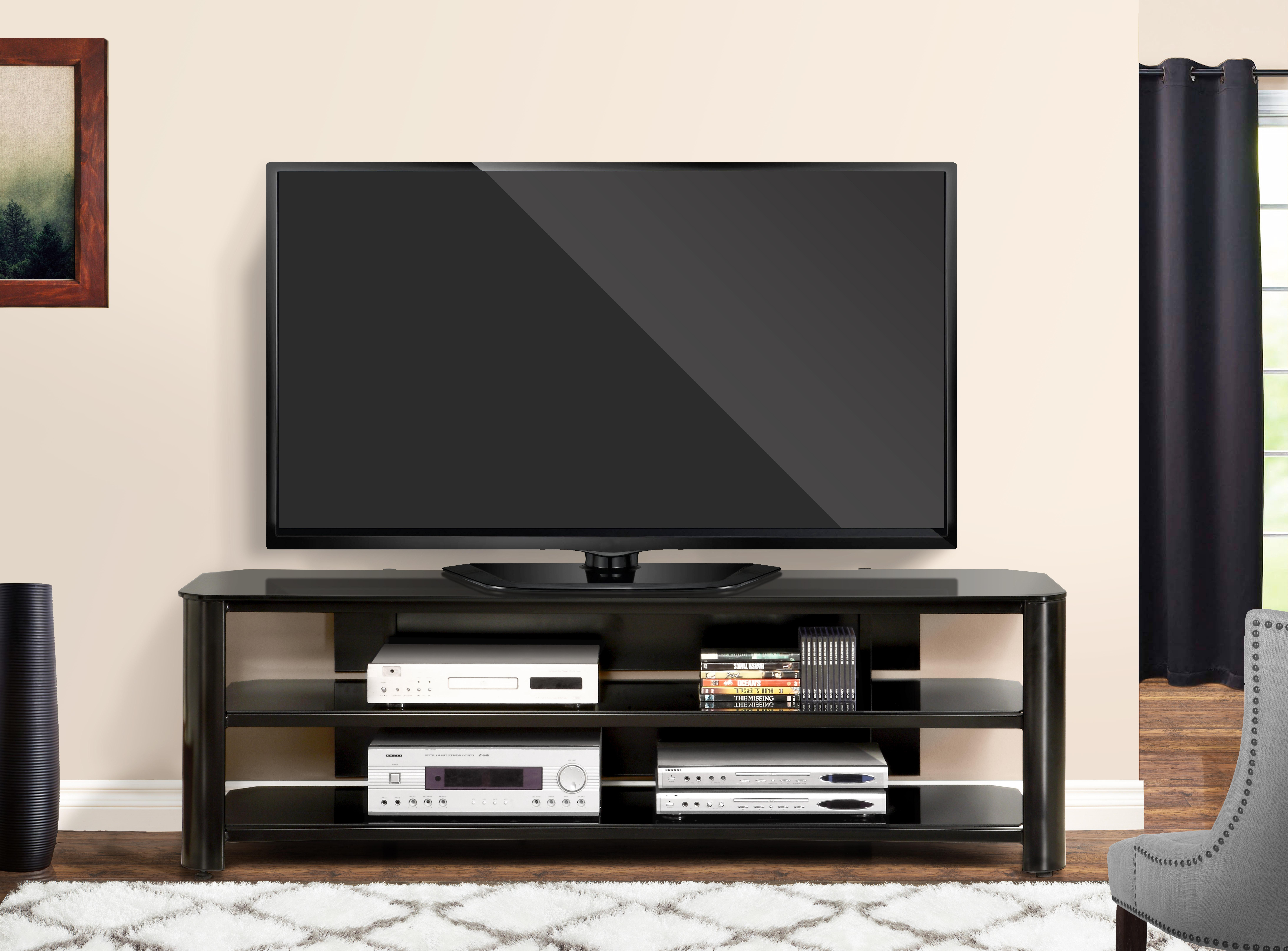 20 innovex oxford tv stand oxford 65 inch black tv stand in