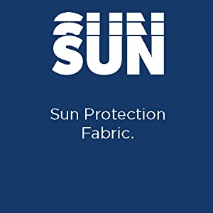 Sunflux™ protection prevents UV rays from penetrating the fabric
