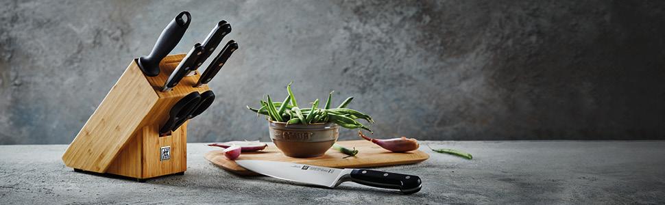 ZWILLING Professional S 7 khối dao tre