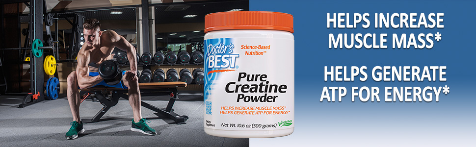 Pure Creatine Powder muscle mass* generate ATP for energy strength & endurance