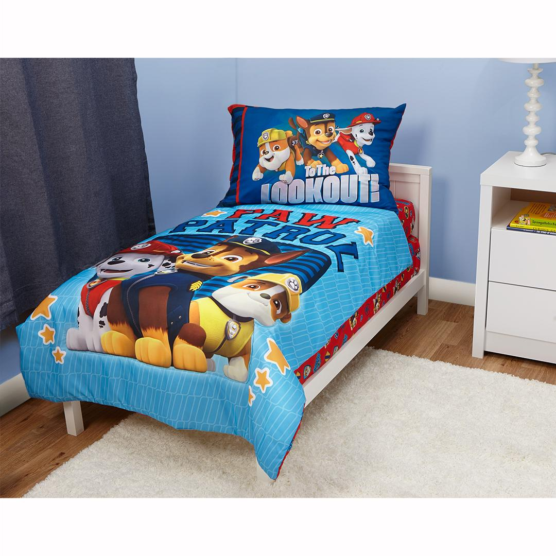 Paw Patrol Here Help 4 Piece Toddler Bedding Set