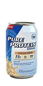 Pure Protein 35g Shake, Vanilla Cream, 11 Ounces, 12 Count