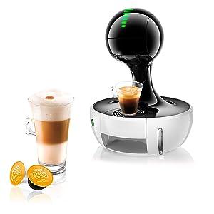 NESCAFE DOLCE GUSTO COFFEE, COFFEE MACHINE, CAPSULES, ESPRESSO, POD, drop white