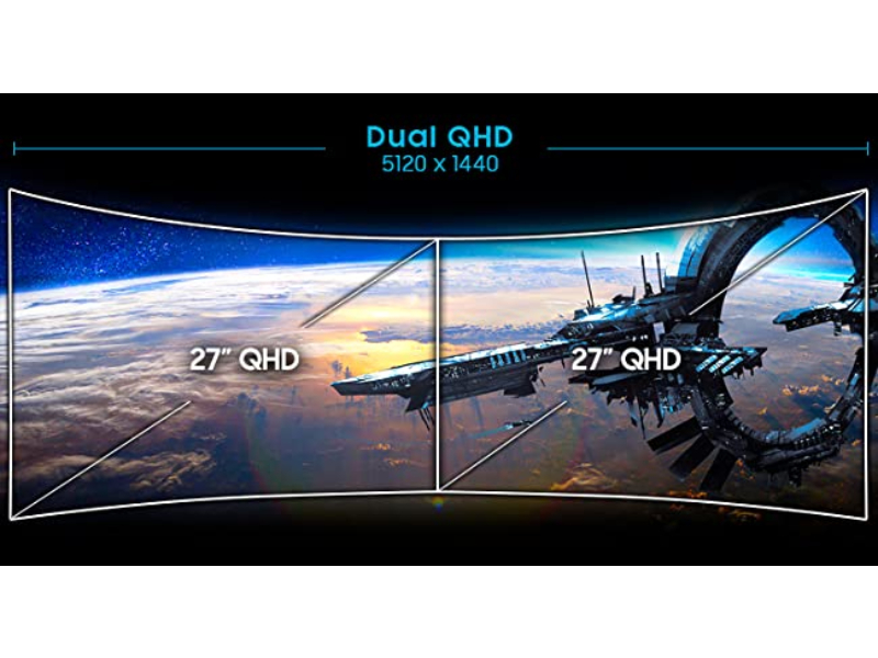 Dual QHD 5120 x 1440 resolution