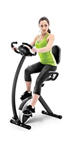 Marcy Foldable Recumbent Exercise Bike With High