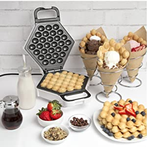 CucinaPro Cooking Cook Kitchen Professional Culinary Chef Gourmet Baking Food bubble Waffle maker
