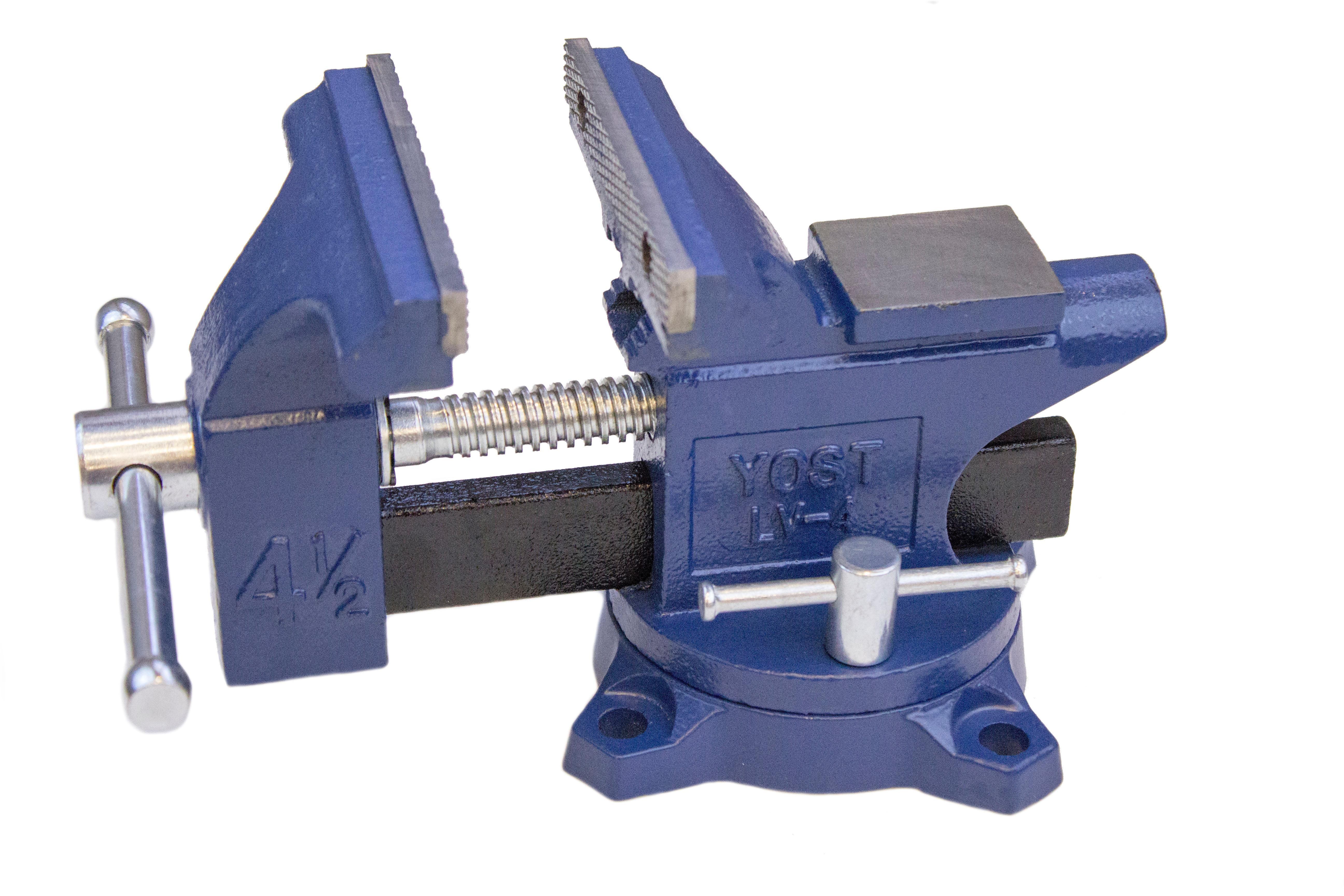 Yost Lv-4 Home Vise Bench Clamps Swivel Shop Steel Jaw Tool 4-1//2 Inch Base NEW