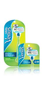 Venus, Gillette, Smooth, Sensitive, Razor, Shave, Disposable, System, Blades, Skin