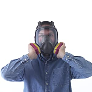 respirator mask, lead, asbestos, mold, tear gas
