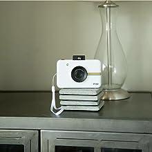 Polaroid Fotocamera Digitale a Scatto Istantaneocon Tecnologia Di Stampa a Zero Inchiostro Zink, Bianco