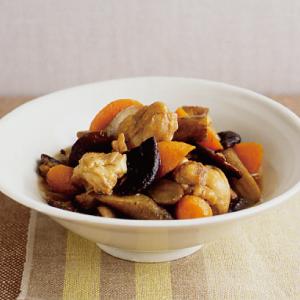 圧力鍋 あつりょくなべ 鍋 時短 筑前煮 和風 煮物 にもの 煮もの 根菜 うまみ 簡単 旨味 うま味 柔らかい 5分 ごぼう もも肉 にんじん しいたけ おかず 晩ごはん レシピ