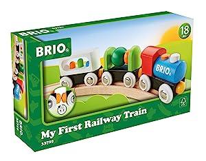 Amazon Com Brio My First Railway Battery Train Set Toys