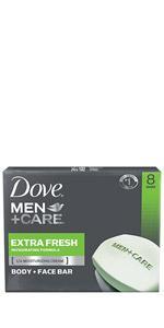 Dove Men+Care Extra Fresh Body and Face Bar 8pk