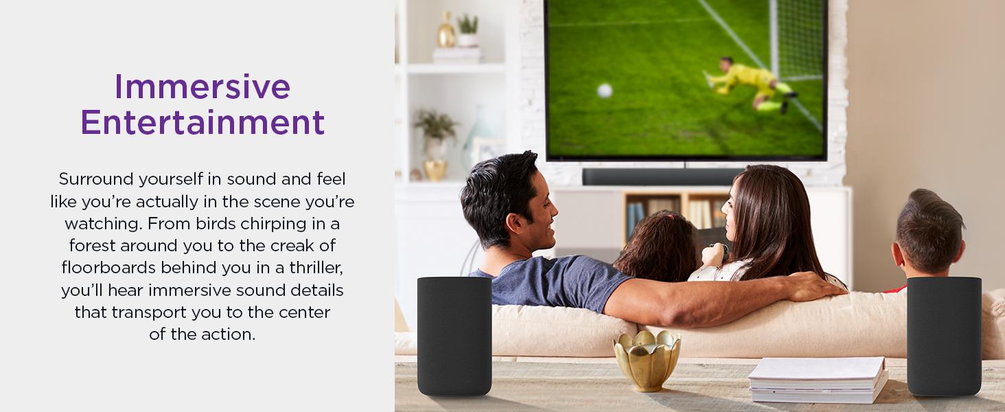 Roku wireless speakers immersive entertainment