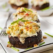 Creamy Crab Stuffed Mushrooms