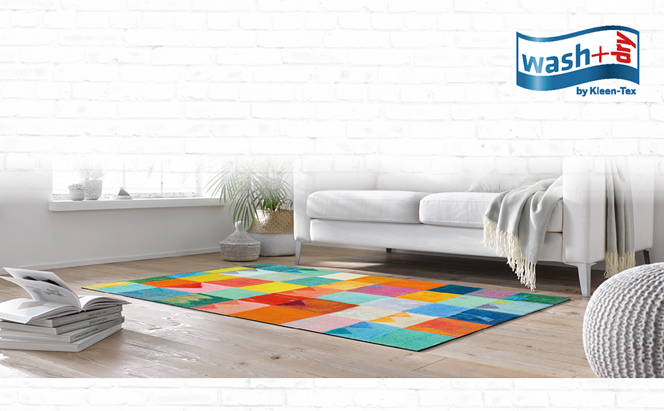 wash+dry Teppich DECOR Canvas 5 Größen lieferbar Kleen Tex randlos
