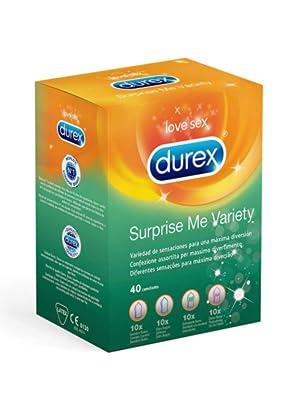 Durex Preservativos Mixtos Surprise Me - 40 Condones: Amazon.es: Salud y cuidado personal