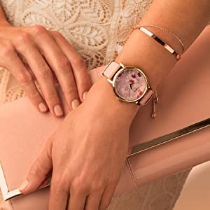 Timex Crystal Bloom Floral Accent