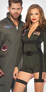 top gun, flight suit, womens, mens, licensed, costume