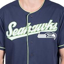 c311a2c1c Amazon.com : ICER Brands NFL Men's Baseball Jersey T-Shirt Button Up ...