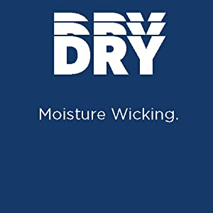 Driflux™ moisture wicking keeps you dry by pulling perspiration away from your body