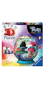puzzle ravensburger 3d trolls