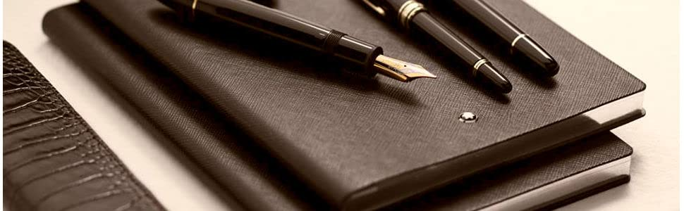 Montblanc 113638 Cuaderno Fine Stationery #146 – Bloc cuadriculado A5, marrón tabaco