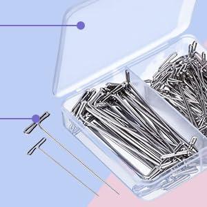 Sew Easy Vidrio Cabeza Pines 51mm 100 un.