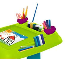 keter kids sit and draw large work surface provides an angled easel for arts and crafts