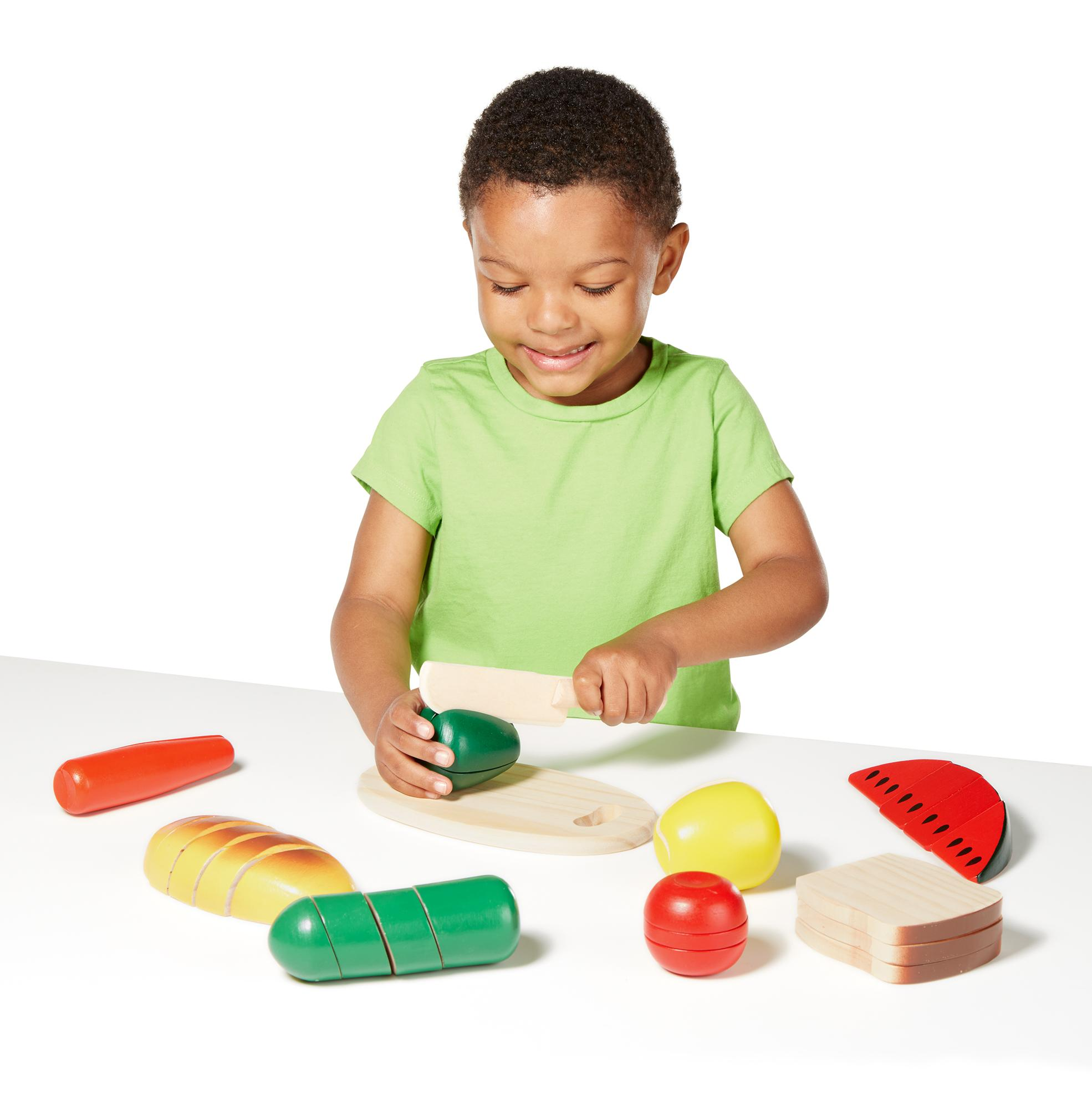Melissa & Doug Cutting Food Play Food Set With 25 Hand Painted