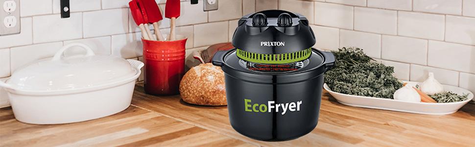 PRIXTON - Freidora sin Aceite de Aire Caliente, Capacidad de 5 litros, Múltiples funciones: Asa, Hornea y Cocina a la parrilla, Barbacoa y al Vapor | ECO100 Ecofryer: Amazon.es: Hogar