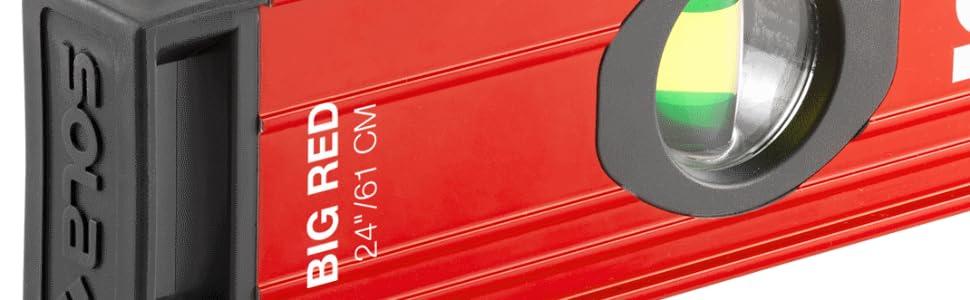 SOLA BX48 Box Level,Aluminum,48 In,Red